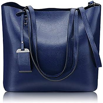 Women Top Handle Satchel Handbags Shoulder Bag Messenger Tote Bag Purse (Dark  Blue) dfeb1682f69d2