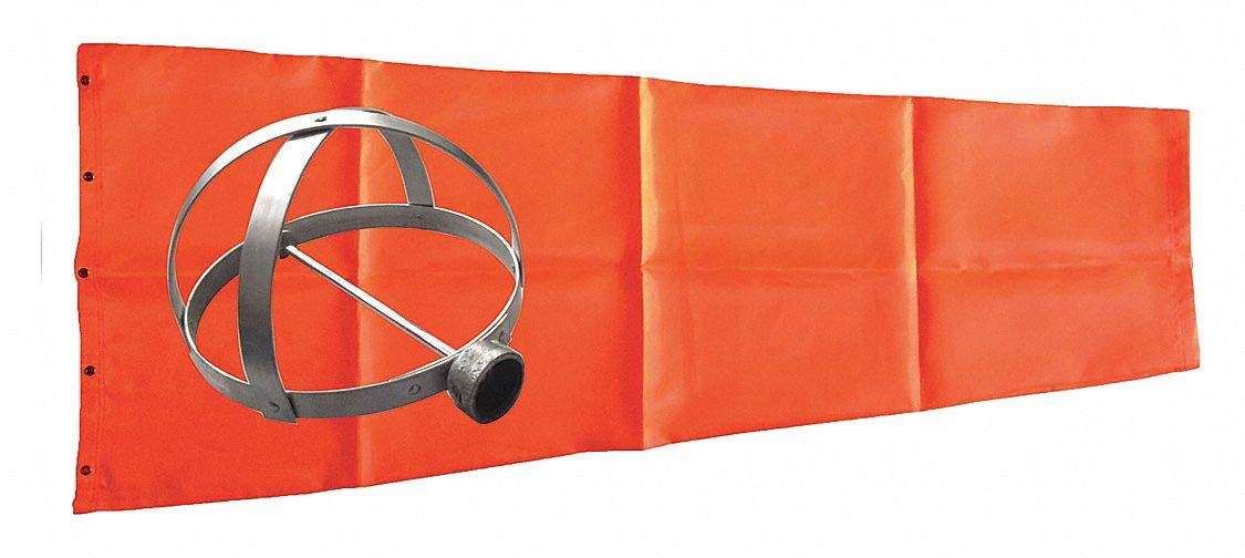 Windsock Kit with Mounting Frame, 96''L x 18'' Dia, Orange