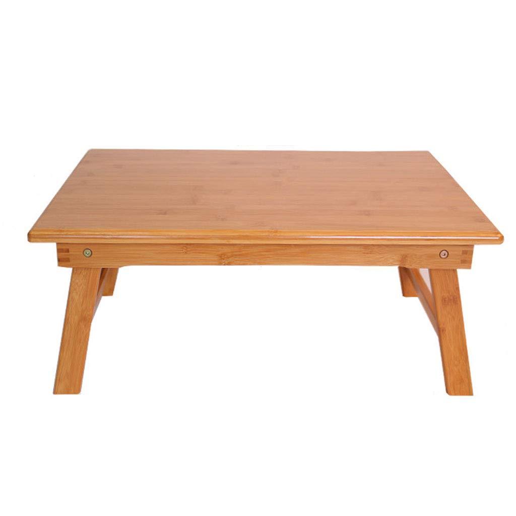 NJ 折りたたみ式テーブル- 竹折り畳みラップトップデスク、家庭用寮コンピュータデスクスタディテーブル (色 : 木の色, サイズ さいず : 60x40x25cm) 60x40x25cm 木の色 B07MR6H4BB