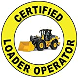 WenNuNa Wall Sticker Certified Loader Operator Hard Hat Labels Plain & Reflective 9x12 Inches