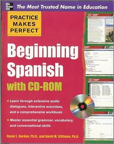 Amazon.com: Practice Makes Perfect Beginning Spanish with CD-ROM ...