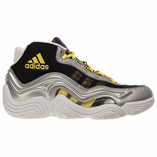 Adidas Performance Mens Crazy 2 Scarpa Da Basket Argento Metallizzato / Giallo Chiaro / Flash Notturno