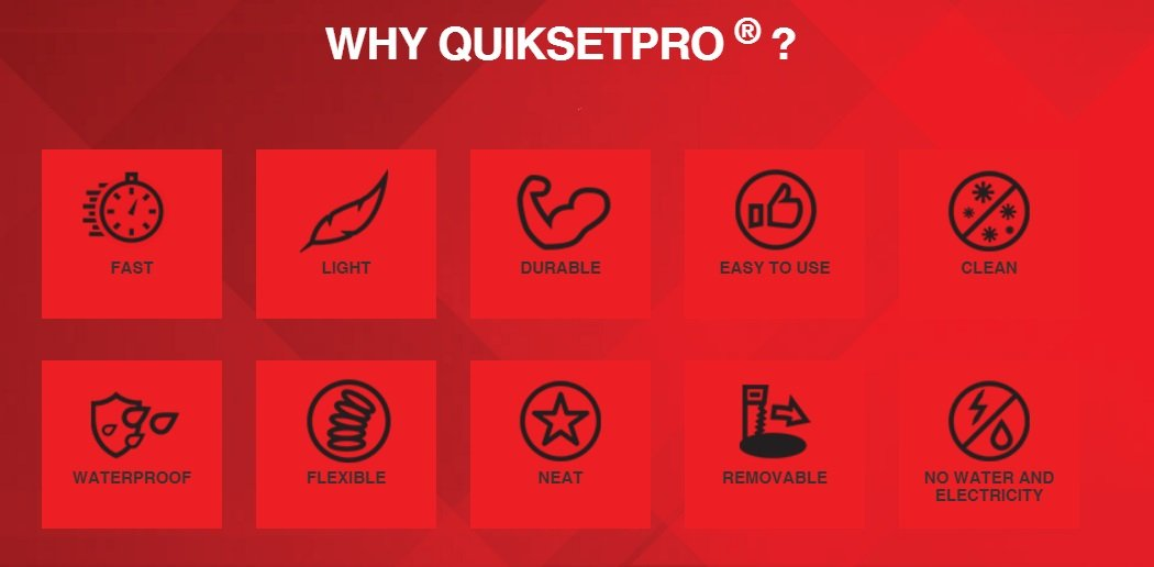 QUIKSETPro Medium - a fast, light and durable innovative concrete alternative resin footing compound