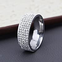 Couple Unisex Men/Womens Wedding Band Ring Rings CZ Stainless Steel (10)