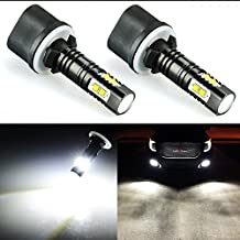 JDM ASTAR Extremely Bright Max 50W High Power 880 886 890 892 CREE LED Bulbs for DRL or Fog Lights, Xenon White