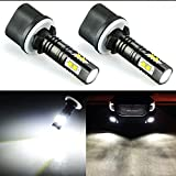 yukon running lights - JDM ASTAR Extremely Bright Max 50W High Power 880 890 892 LED Fog Light Bulbs for DRL or Fog Lights, Xenon White