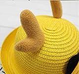Lovely Baby Straw Bowler Hat Children Bucket Hat