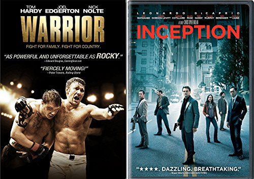 Inception & The Warrior DVD 2 Pack / MMA Fight Tom Hardy Movie Double Feature Set