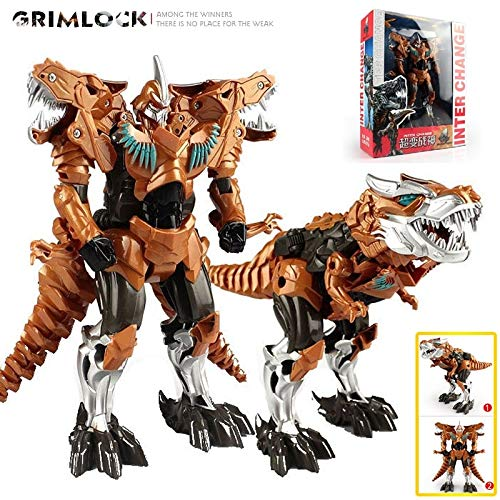 Big Big Shot Rope Robot Dinosaur Toy Deformation Toys Grimlock Robot Model Supermodel God of War Ivory]()