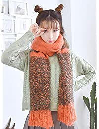 nwn New Scarf Female Autumn and Winter Shawl Dual-use Cute Long Korean Version of The Wild Thick Warm Tassel (Color : B)