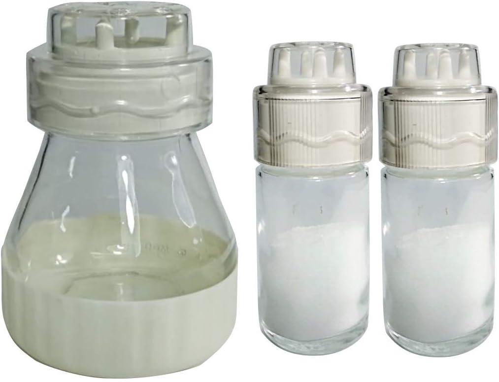 Set de Salero /& Pimentero Blanco Antihumedad Espolvoreador de Queso Blanco con puntas rodantes destapa-hoyos