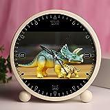 Reloj despertador, recámara mesa Retro portátil relojes con luz nocturna diseños personalizados dinosaurios 393_ juguete Playmobil figura réplica dinosaurio Dino