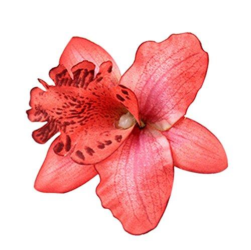 - Freedi Womens Flower Hair Clip Pin Beach Party Wedding Event Girls Orchid Hairpins Decor