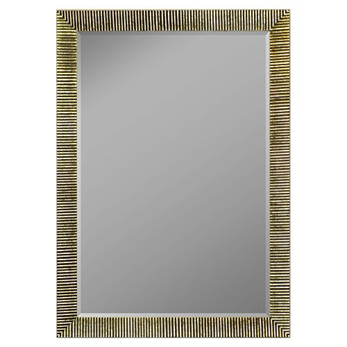 Hitchcock-Butterfield Textured Ribbed Framed Wall Mirror