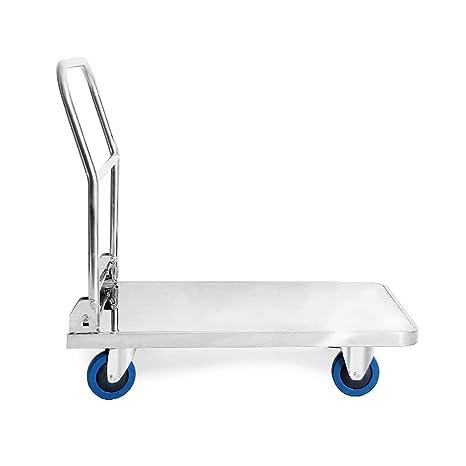 Carro de plataforma de acero inoxidable con ruedas, ruedas ...
