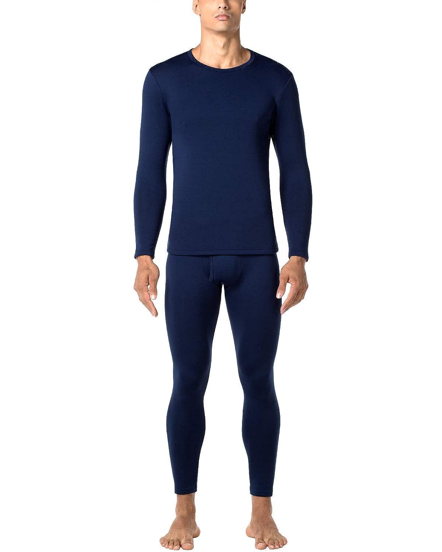 28c1c4aab LAPASA Men's Heavyweight Thermal Underwear Long John Set Fleece Lined Base  Layer Top and Bottom M24