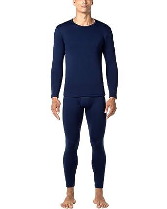 d89e2cdd54 LAPASA Men's Heavyweight Thermal Underwear Long John Set Fleece Lined Base  Layer Top and Bottom M24