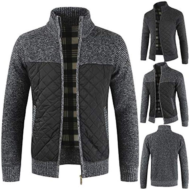 Longra męski sweter dziergany sweter z zamkiem błyskawicznym Streetwear Menswear jesień zima knitwear sweter bluza z kurtką ze stÓjką kurtka dziergana Cardigan gruby haft: Odzież