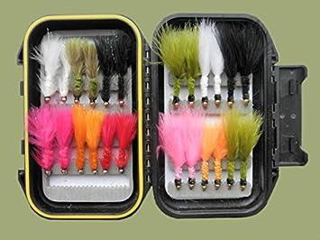18/GOLDHEAD Wooly Bugger Trout Fly/ gemischt Gr/ö/ße 8//10 /6/Farben 2/Gr/ö/ßen