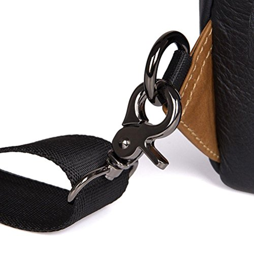 Sling black Flap GTUKO Genuino Bag yellow JMD Bolso Hombres Teléfono Black De Celular Hombro Pequeño Cuero 4007A ZwUCqwxRP1
