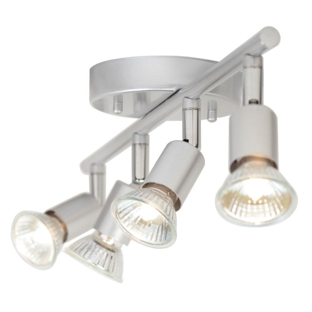 Globe Electric Payton 4-Light Adjustable Track Lighting Kit, Matte Silver Finish, 58932 by Globe Electric (Image #3)