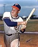 Del Ennis (D.1996) Autographed /Original Signed 8x10 Color Photo Showing Him w/ the Philadelphia Phillies - He Was a Member of the 1950 Whiz Kids