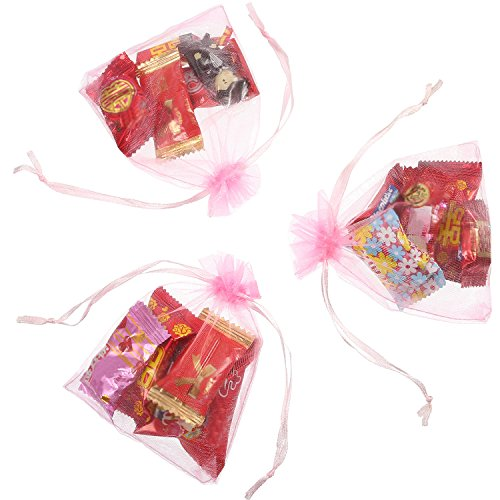 c9acd943c9d Mudder 50 Pack Organza Gift Bags Wedding Party Favor Bags Jewelry Pouches  Wrap