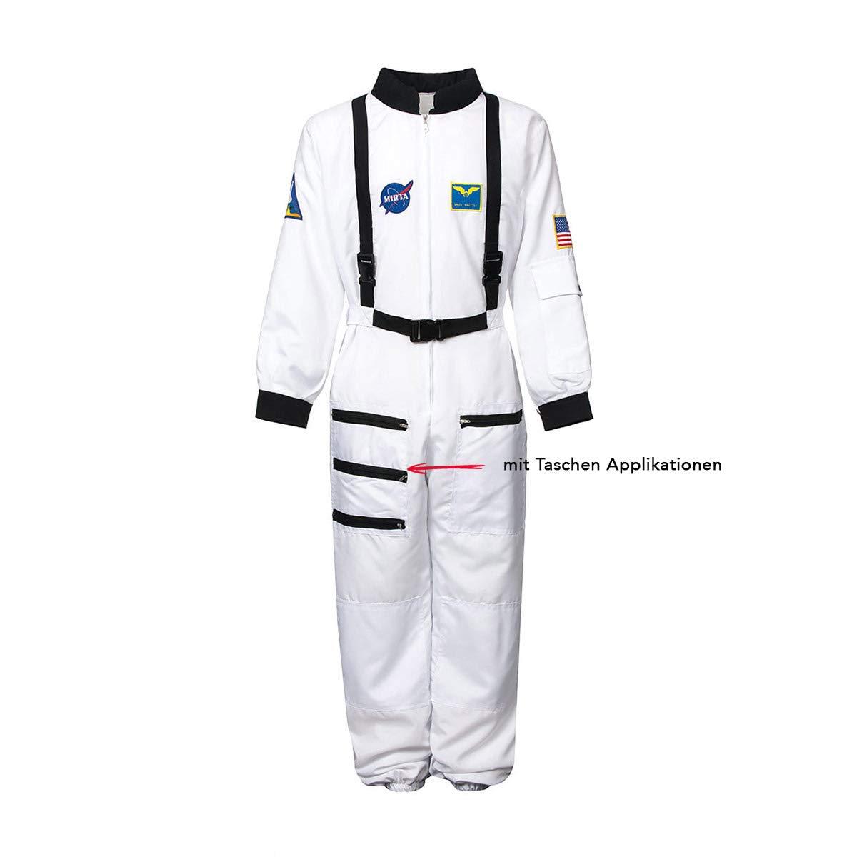 Disfraz infantil de astronauta, tallas 116, 128, 140, 152, 164 - Mono de astronauta para niños y jóvenes + carnet de astronauta: Amazon.es: Juguetes y ...