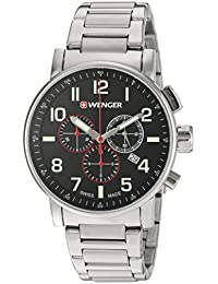 Men's 'Attitude Chrono' Swiss Quartz Stainless Steel Casual Watch, Color:Silver-Toned (Model: 01.0343.105)
