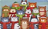 Toland Home Garden Cat Caroling 18 x 30 Inch Decorative Christmas Carol Floor Mat Winter Kitty...