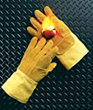 National Safety Apparel G51PCLW14137 Norbest and Kevlar Lined Heat Resistant Gloves with Gauntlet Cuff and Wool Palm Lining, Large, 14'', 10 oz.