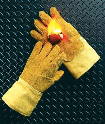 National Safety Apparel G51PCLW14137 Norbest and Kevlar Lined Heat Resistant Gloves with Gauntlet Cuff and Wool Palm Lining, Large, 14'', 10 oz. by National Safety Apparel Inc