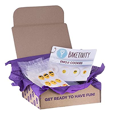 Baketivity Kids Baking Set, Meal Cooking Party Supply Kit for Teens, Real Fun Little Junior Chef Essential Kitchen Lessons, Includes Pre-Measured Ingredients