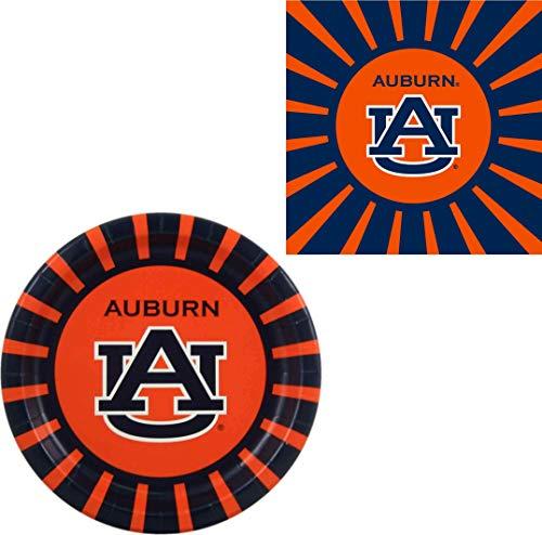 Westrick Auburn Tigers Napkins & Plates - 64 Pieces (Serves - Paper Auburn Tigers