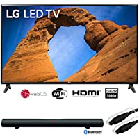 LG 43LK5700PUA 43-Class HDR Smart LED Full HD 1080p TV (2018) + Sharper Image 37 Sound Bar Bluetooth Speaker Optical Input + 6ft Optical Toslink 5.0mm OD Audio Cable