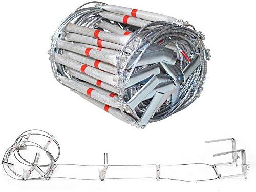 SSCYHT Escalera Escape Aleación Aluminio Emergencia Fuego Resistente al Fuego Escalera evacuación Seguridad con Gancho Resistente Escalera Rescate contra Incendios: Amazon.es: Deportes y aire libre