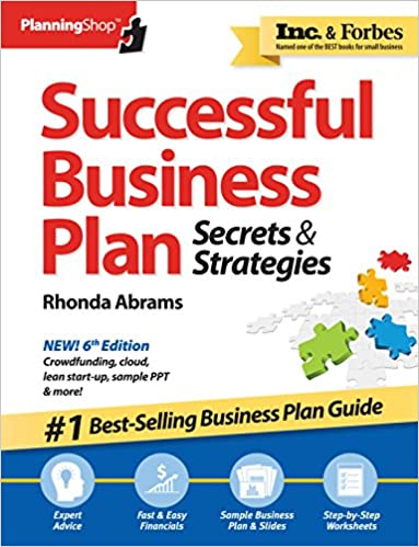 Amazon Successful Business Plan Secrets Strategies Planning