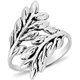 DTPSilver - 925 Sterling Silver Leaf Ring