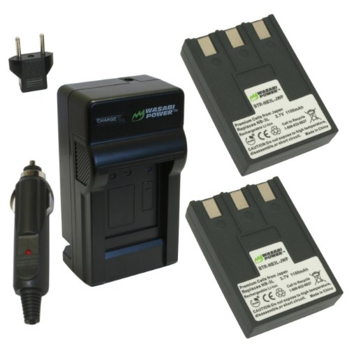 Wasabi Power Battery and Charger Kit for Canon NB-3L, Pow...