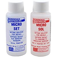 MicroScale Industries Micro Sol & Micro Set Decals Setting Solution Twin Pack