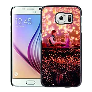 Unique Samsung Galaxy S6 9700 Screen Case ,Popular And Durable Designed Case With Disney Tangled Black Samsung Galaxy S6 9700 High Quality Phone Case