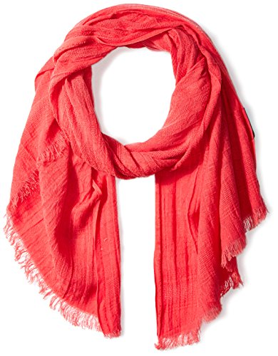 Jessica Simpson Scarf - Jessica Simpson Women's Washed Woven Oblong Scarf, Spiced Coral, One Size