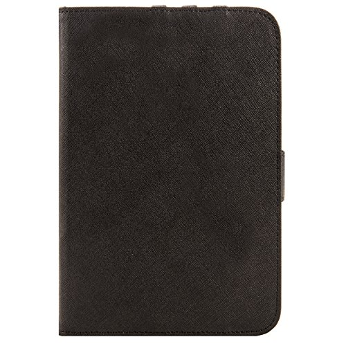 Black Mary Leather Folio Case for Alcatel One Touch Pixi 7 Tablet