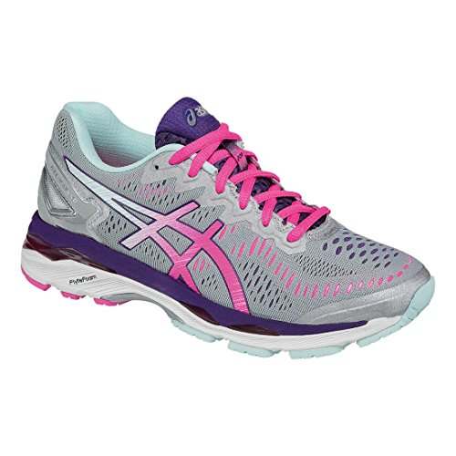Asics Women S Gel Kayano  Shoe Purple Silver Pink Glow