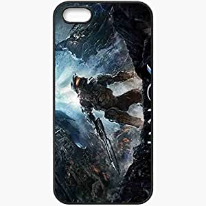 taoyix diy Personalized iPhone 5 5S Cell phone Case/Cover Skin Halo 4 Black