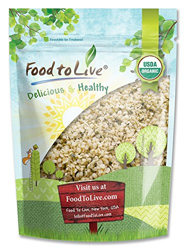 Organic Hemp Seeds by Food to Live (Raw Hearts, Hulled, Non-GMO, Kosher, Bulk, Product of China) (1 Pound)