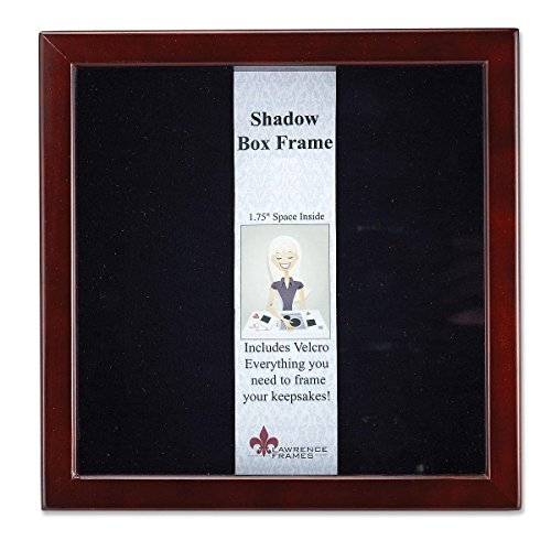 Lawrence-Frames-790112-Espresso-Wood-Shadow-Box-Picture-Frame-12-by-12-Inch
