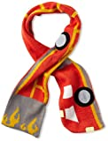Kidorable Red Fireman Soft Acrylic Knit Scarf for Boys With Fun Flames and Truck, 43x5.5 Inches