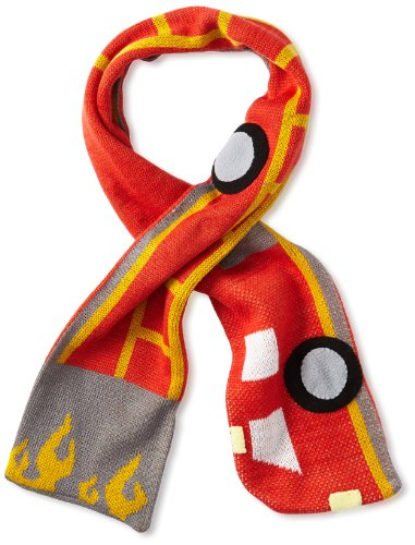 Kidorable Fireman Knit Kids Scarf, One Size Fits Most, Soft Red Acrylic Knit Winter Scarf for Toddlers, Little Kids, Big Kids