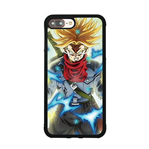 Dragon Ball DBZ Z Trunks Theme Case for iPhone 7 Plus / 8 Plus (5.5 Inch) TPU Silicone Gel Edge + PC Bumper Case Skin Protective Custom Designed Printed Phone Protector Full Protection Cartoon Cover